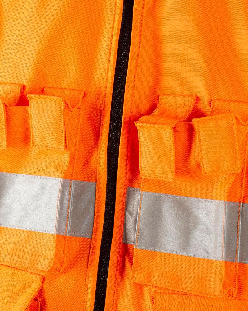 Giacca Fluo Arancione Dettaglio